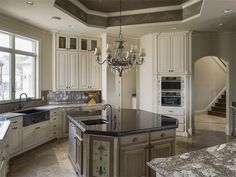 Kitchen of luxury home in Colleyville, Texas
