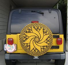 Crocheted Car Tire Cozies! - not really ugly, but WHY???