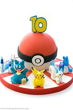 Pokemon Ball Cake - my boys would lose their minds :)