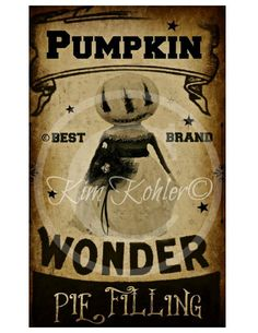 Pumpkin Brand Large For Feed Sacks, Pillows, Doll's ETC. Also Inc Mirrored Image... Instant Digital Download by Veenas Mercantile