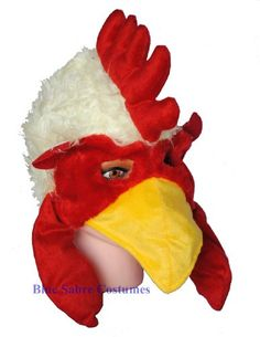 Adult Chicken Costume Hat CoverYourHair,http://www.amazon.com/dp/B005DMH8AK/ref=cm_sw_r_pi_dp_hRihsb1ZXXPN5V8M