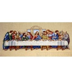 Last Supper Counted Cross Stitch would be awesome in the formal dining room