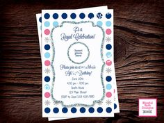 ICE PRINCESS BIRTHDAY Princess Birthday by BlissfulBethDesigns