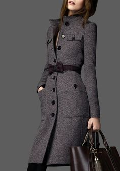 Women& Autumn/Winter Slim Coat With Decorative Belt Casual Hijab Outfit, Casual Winter Outfits, Backless Long Dress, Casual Blazer Women, Casual Street Style, Outerwear Women, Timeless Fashion, Blazers, Winter Fashion