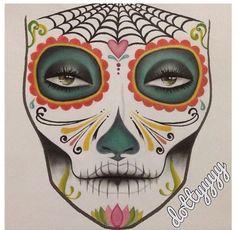 !!Sugar skull make-up!! Template time.