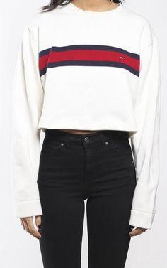 Vintage Tommy Hilfiger Crop Knit Sweater