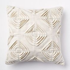 this gives me a few ideas... wonder if I will remember when I have time what the idea was! Felted Geo Pillow Cover - Ivory #westelm