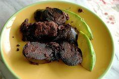 black pudding & avocado