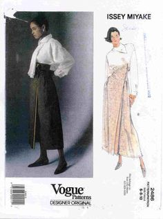 I made this 20? years ago, out of vintage violet silk taffeta, with deep yellow lining.... Issey Miyake Vogue Pattern