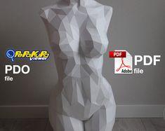 Venus Skulptur DIY Modell niedrige Polygon PDF + PDO