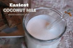 This is the Easiest Coconut Milk Recipe ever. No need for nut milks or straining. And now--no need to buy expensive packaged coconut milk at the store ever again!