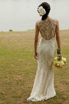 Vintage Sheath Lace Wedding Dress   lace-sheath-lace-wedding-dress