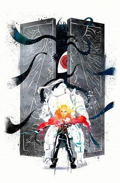 Fullmetal Alchemist Watercolor Art Poster