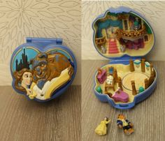 Polly Pocket vintage - La Belle et la Bête Disney Polly Pocket, Vintage Toys, Disney, Childhood, The Beast, Characters, Old Fashioned Toys, Infancy, Childhood Memories