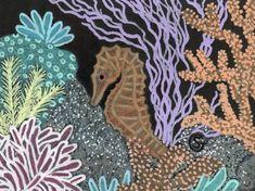 ACEO Seahorse Reef Ocean Art ORIGINAL MIxed Media Sherry Goeben #Realism