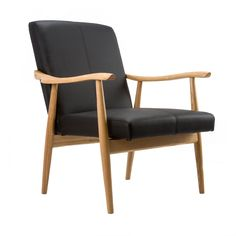 The Contrasts Chair finds elegance in the simple contrast of light wood and black leatherette.  Find the Contrasts Chair in Black, as seen in the Farmhouse Along the Fjords Collection at http://dotandbo.com/collections/farmhouse-along-the-fjords?utm_source=pinterest&utm_medium=organic&db_sku=DBI1222-BLK
