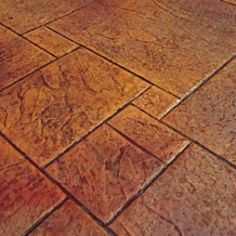 stamped and stained cement- alot more work but looks super neat. Cement Stain, Painted Concrete Floors, Painting Concrete, Stained Concrete, Concrete Tools, Concrete Porch, Stamped Concrete Patterns, Outdoor Flooring, Flooring Ideas