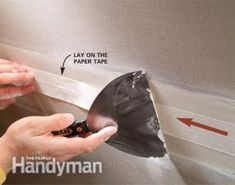 Improve your drywall taping skills and increase your speed with these taping tips. They'll help you achieve invisible joints and perfectly smooth walls. Drywall Tape, Drywall Ceiling, Drywall Mud, Drywall Repair, Metal Stud Framing, Hanging Drywall, Drywall Finishing, Bathroom Repair, How To Patch Drywall