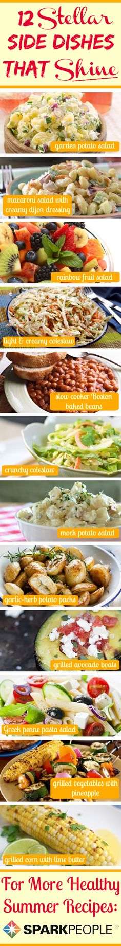 12 Side Dishes That Steal the Spotlight | via @SparkPeople #sidedish #recipe #grilling #summer #potluck #bbq #cookout