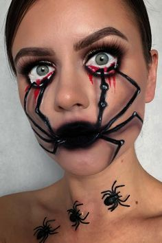Are you looking for ideas for your Halloween make-up? Browse around this website for cute Halloween makeup looks. Cute Halloween Makeup, Halloween Makeup Looks, Halloween Costumes, Halloween 2019, Halloween Ideas, Holiday Makeup Looks, Halloween Stuff, Halloween Decorations, Makeup Clown