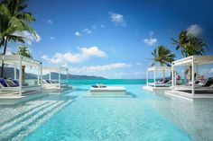 The Aquazure pool at the recently refurbished One&Only Hayman Island looks out over the Coral Sea beside the Great Barrier Reef, in the Whitsunday Islands, Australia.