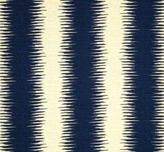Tribal Modern Stripe Navy Blue & White Fabric by by CottonCircle, $17.50 to make my upholstered headboard