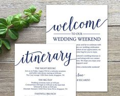 Wedding Welcome Bag Note Letter Pinterest And