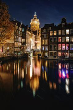 dark evening in Amsterdam -