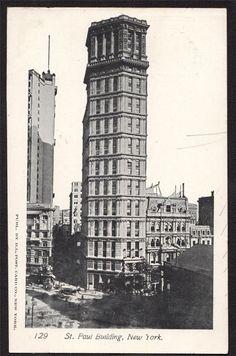 New York City St Paul Building c1905 Broadway Lower Manhattan