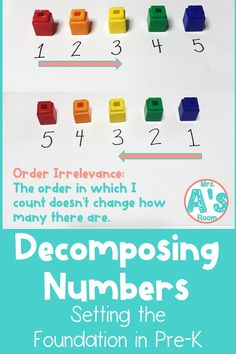 Decomposing numbers is one of the most important math concepts for kiddos to grasp as they get older. And we can do a LOT to set the foundation for them in our pre-k classrooms! Preschool Math, Kindergarten Math, Teaching Numbers, Decomposing Numbers, Number Activities, Early Math, Math Concepts, Math Centers, Pre School