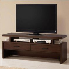 65 Inch Black Tv Stand With Mount Tv Stands Pinterest Tv Stand