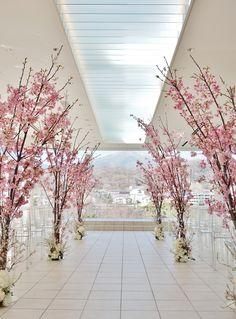 Luxury Wedding Decor, Indian Wedding Decorations, Flower Decorations, Rustic Wedding, Cherry Blossom Fiesta, Cherry Blossom Wedding, Cherry Blossom Cake, Tree Wedding, Floral Wedding