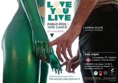 Cartel concierto / Cliente: Pablo Ríos / 2018 Karma, Gig Poster