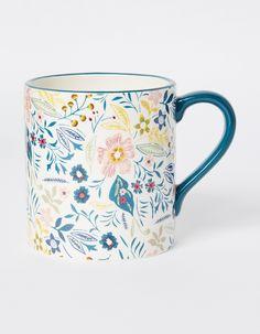 Ceramic mug with floral print