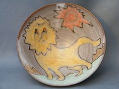 Rare Studio Pottery Bowl by Tessa Fuchs (1936-2012)