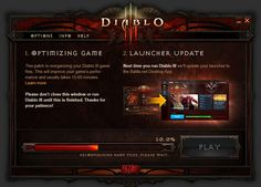 Launcher Update Incoming—What to Expect - Diablo III Game Design, Ui Design, Entertainment Sites, Game Ui, User Interface, Advertising, Fantasy, Learning, Rpg