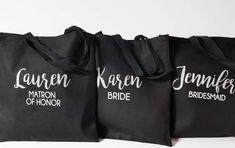 Etsy Bridesmaid Tote Bags, Personalized Bridal Tote Bag, Maid of Honor Tote Bag, Wedding Party Tote Bags Bridesmaid Tote Bags, Maid Of Honor, Bridal, Sweatshirts, Party, Barcelona, Wedding, Etsy, Fashion