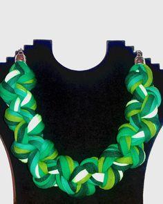 """Stoffketten - Jerseykette """"Mehr Grün"""" - ein Designerstück von Patikreli bei DaWanda"""