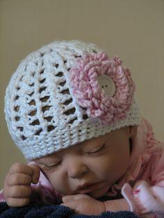 Cables & Lace Beanie Hat Crochet Pattern 5 by ambassadorcrochet, $3.99