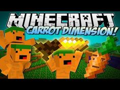 Minecraft | CARROT DIMENSION! (Carrot Bazooka, Carrot Diamond Drill & More!) | Mod Showcase - YouTube