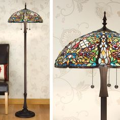 The Anderson Tiffany Lighting range by Interiors 1900 is a perfect example of American Tiffany styling. Hundreds of pieces of hand cut art glass are fused together to create this shade. This Tiffany Floor Lamp will provide light and a huge wow factor in your home. The Anderson Tiffany Lighting range also comes in a table lamp, ceiling pendant lights, and replacement Tiffany lamp shade.Carefully packaged and shipped from the heart of the East Midlands , you can buy with complete confidence…