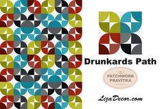 #patchwork #drunkardspath #orangepeel #quilt #tutorial #youtube #lizadecor #opilcovacesta