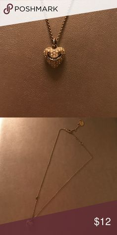 Juicy Couture pave heart necklace Authentic and in great condition, comes with box! Juicy Couture Jewelry Necklaces