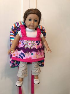 Best Friend Take along Pack, Doll Carrier, Doll Backpack, Backpack by merindamade on Etsy