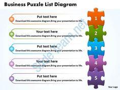 business puzzle list diagarm powerpoint templates ppt presentation slides 0812 Slide01
