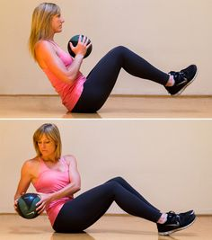 4 Moves to Whittle Your Waist.  Twisting ab exercises.