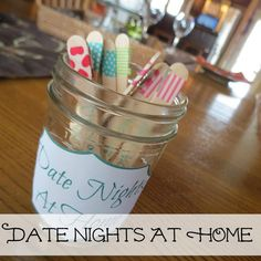 10 Fun Date Nights at Home Ideas! {+ Date Nights at Home Jar!} #date #night