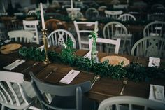 Chloe and Sam's modern spring woodland wedding with earthy organic decor, gold dipped feathers, and lush green and white florals Woodland Wedding, Rustic Wedding, Green Garland, Wedding Company, Bride Photography, Grace Loves Lace, Wedding Table Decorations, Gold Dipped, Boho Wedding Dress