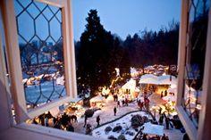 Romantischer Weihnachtsmarkt, Schloss Grünewald, Solingen Gräfrath im Bergischen Land