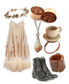 tea time mori girl by risaisafox on Polyvore featuring 3.1 Phillip Lim, H by Hudson, Kenneth Jay Lane and eliurpi